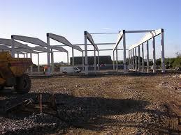 pre stressed precast concrete frame building