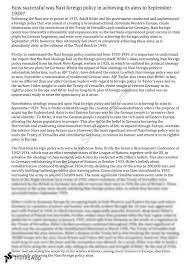 nazi foreign policy essay year hsc modern history  nazi foreign policy essay 25 25