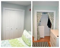 curtains closet as curtain door to cover white and ivory walk in dorm for doors ideas changing the diffe closet curtains