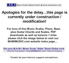 C Melodic Minor Musical Scales Free Chords Charts And