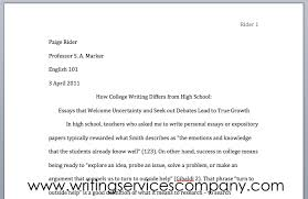 mla format for college co mla format for college