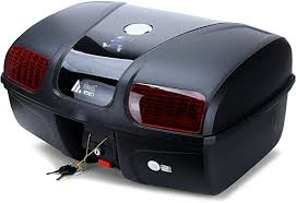 Autoinbox 47 Litre <b>Motorcycle</b> Boot Luggage Top Back <b>Box</b> Rear ...