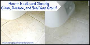 Cleaning Bathroom Tile Mesmerizing How To Clean Refresh And Seal Your Grout Easily And Cheaply