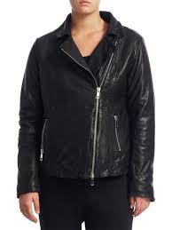 marina rinaldi plus size collared leather jacket black women s coats jackets