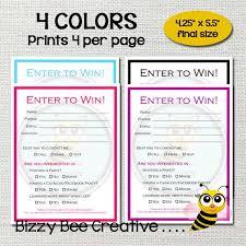 Enter To Win Raffle Ticket Drawing Slip Door Prize
