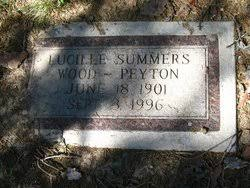 Lucille Nettie Summers Peyton (1901-1996) - Find A Grave Memorial