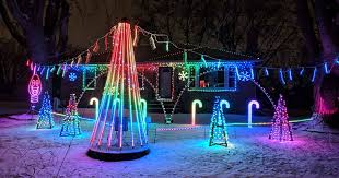 with christmas lights synchronized to