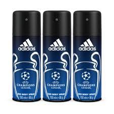 Buy <b>Adidas Champions League</b> Deo Body Spray 150ml Pack of 3 ...
