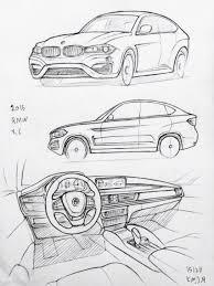 Drawn bmw car design pencil and in color drawn bmw car design