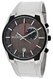 skagen men s watches 67 99 for skagen men s watch stainless steel mesh band grey face skagen 853xlsbb 195 list price