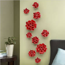handmade wall decorations creative living room ornaments ceramic flowers