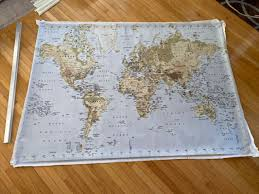 ikea premiar large 78x55 world map