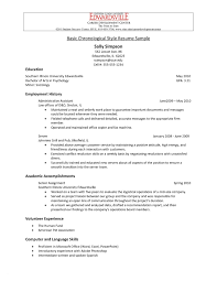 25 New Chronological Resume Definition Emsturs Com
