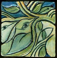 ceramic tile handmade. Delighful Handmade Branching Birds Throughout Ceramic Tile Handmade Susan Cohen Thompson