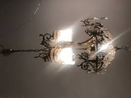 vintage french crystal beaded liberty chandelier 2