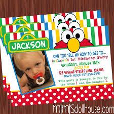 birthday invitation templates elmo 1st
