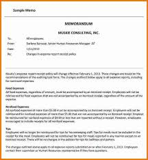 Sample Business Memos Memo Template Standart Including Expense ...