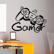 Game Controller Gamer Wall Decal Game Zone Wall Decals Vinyl Stickers  Joystick Playing Playstation Game Boy