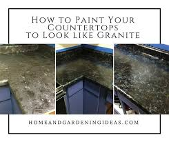 how to paint your countertops to look like granite home and gardening ideas