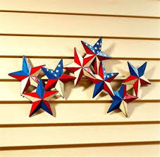 americana wall decor unique 29 1 2w patriotic stars wall hanging rustic metal finish