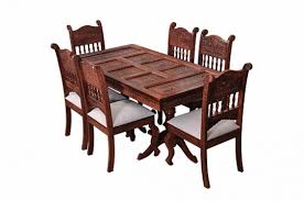 maharaja dining table set of 6 chair fusion of victorian and indian ethnic