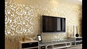 Wallpaper Designs For Living Rooms Best Wallpaper Decorating Ideas For Room Youtube