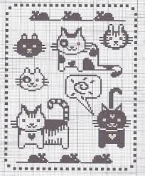 Cat Knitting Chart Cute Cats For Cross Stitch Or Knitting Chart Cross Stitch