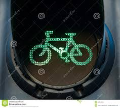 Green Light Cycle Green Bicycle Traffic Light Stock Image Image Of