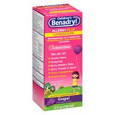 Children's Benadryl D Children's Allergy Plus Congestion Liquid ...