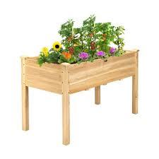 giantex wooden raised vegetable garden