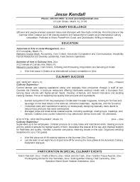 Sample Chef Resume Culinary Resumes Culinary Resume Sample Sample ...