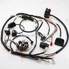 buggy wiring harness loom gy6 cdi electric start stator 8 coil ngk product description buggy wiring harness