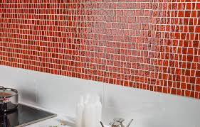 red glass mosaic tile