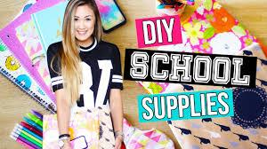 Diy Back To School Supplies Binders Pencil Case Organization