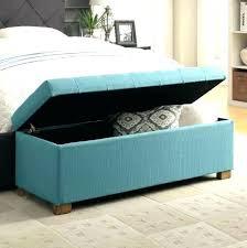 blue velvet bench. Blue Velvet Bench Light Bedroom H