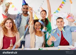 Corporate Celebration Corporate Celebration Holidays Concept Happy Team Stock Photo Edit