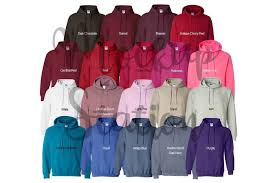 Color Chart For Gildan 18500 Hoodie Digital Color Chart By