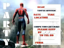 Spiderman Birthday Invitation Templates Free Spider Man Template Turkeytravel Co