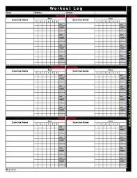 5 Day Workout Chart 40 Effective Workout Log Calendar Templates Template Lab