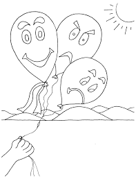 Small Picture Feelings Coloring Pages