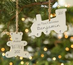 Personalized Ceramic Baby's First Christmas Ornaments | Pottery ...