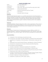 Download Sample Resume For Experienced Testing Professional Free