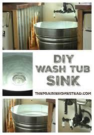 bathroom utility sink. Diy Wash Tub Sink Tutorial For Farmhouse Laundry Room Bathroom Utility