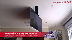 Retractable tv mount Tv Stand Retractable Ceiling Mounted Tv Ecvvcom Retractable Ceiling Mounted Tv Youtube