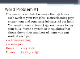 Compound Inequalities Word Problems Worksheet - Checks Worksheet