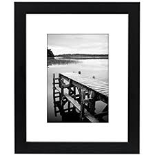 black picture frames. 8x10 Black Picture Frame - Made To Display Pictures 5x7 With Mat Or Without Frames S
