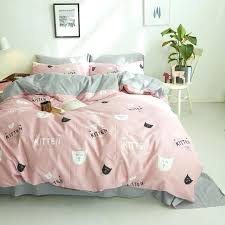 cotton white black pink cats duvet cover set twin queen king size good quality bedding sets bedding set