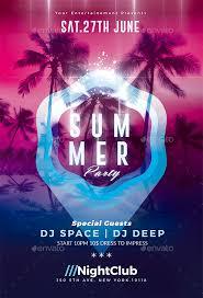 Summer Party Psd Flyer Template Psd Flyer Templates Crea