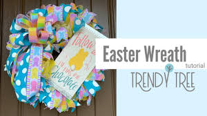 <b>2020</b> Easter Wreath Tutorial <b>Fabric</b> Mesh - YouTube