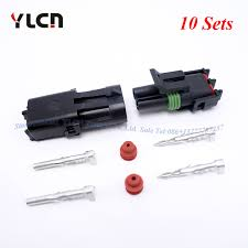 delphi auto parts reviews online shopping delphi auto parts Delphi Compressor Wire Connector high quality 10 sets kits brand new 2pin way delphi waterproof auto car parts sealed electrical wire connector plugs Delphi Automotive Wire Connectors